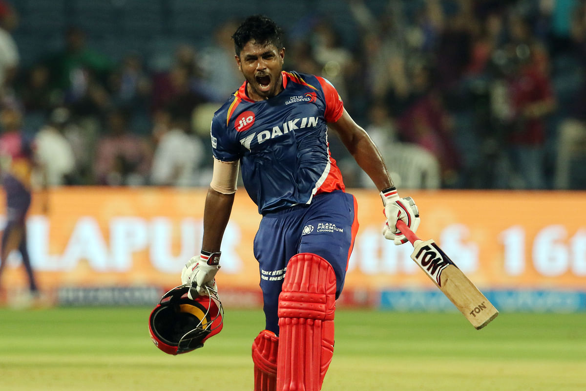 Sanju Samson smashed the first century of IPL 2017. (Photo: BCCI)