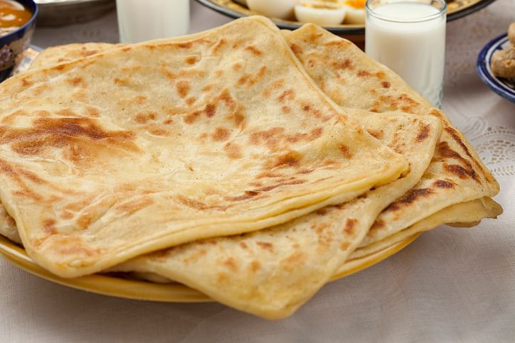 The laccha paratha-like msemen is a breakfast staple in Morocco. (Photo: iStock)