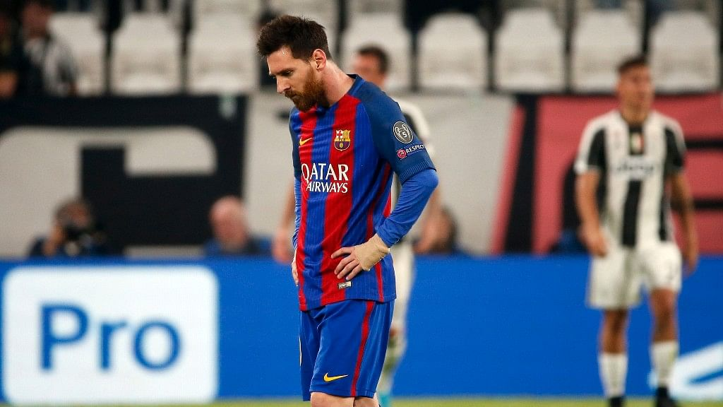 Lionel Messi's Barcelona lost to  Juventus in the quarterfinal first leg. (Photo: AP)