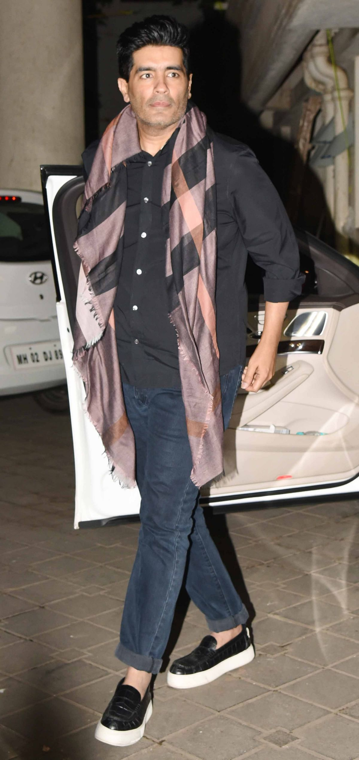 Manish Malhotra arriving for the party. (Photo: Yogen Shah)