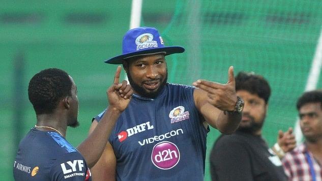 Mumbai Indians players Kieron Pollard had lashed out at Sanjay Manjrekar. (Photo: IANS)