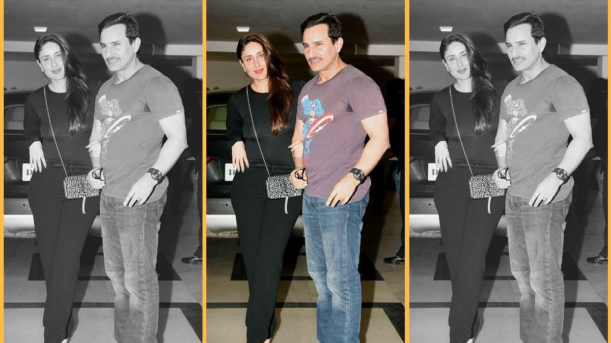Saif Ali Khan with wife Kareena Kapoor Khan. (Photo: Yogen Shah)