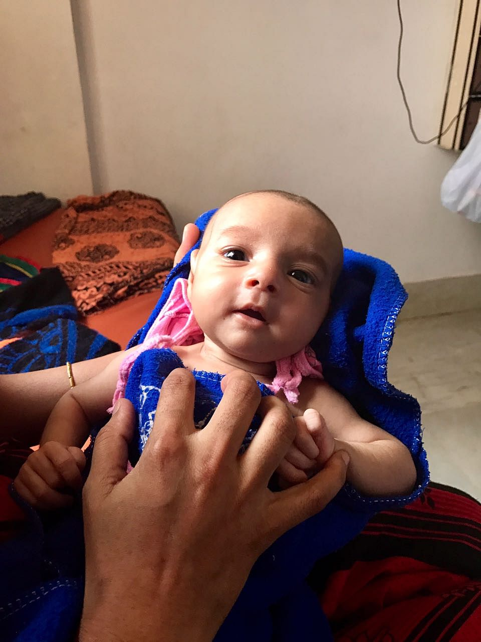 This baby boy, born to Yogita, came to Amrita Institute in an extremely critical condition. He was brought from Maharashtra, 1700 kms away, in a taxi. He was operated on for transposition of the great arteries. (Photo: <b>The Quint</b>)