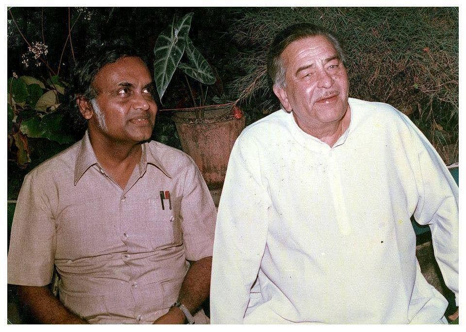 "PK Nair with Raj Kapoor. (Photo courtesy: <a href=""https://www.facebook.com/pg/Bollywoodirect/photos/?ref=page_internal"">Facebook/ Bollywoodirect</a>)"