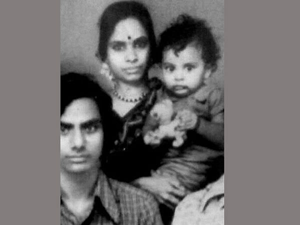 """KCR with wife Shobha and baby KT Rama Rao (Photo Courtesy: <a href=""""https://twitter.com/KTRTRS/status/856484765217640450"""">Twitter</a>)"""