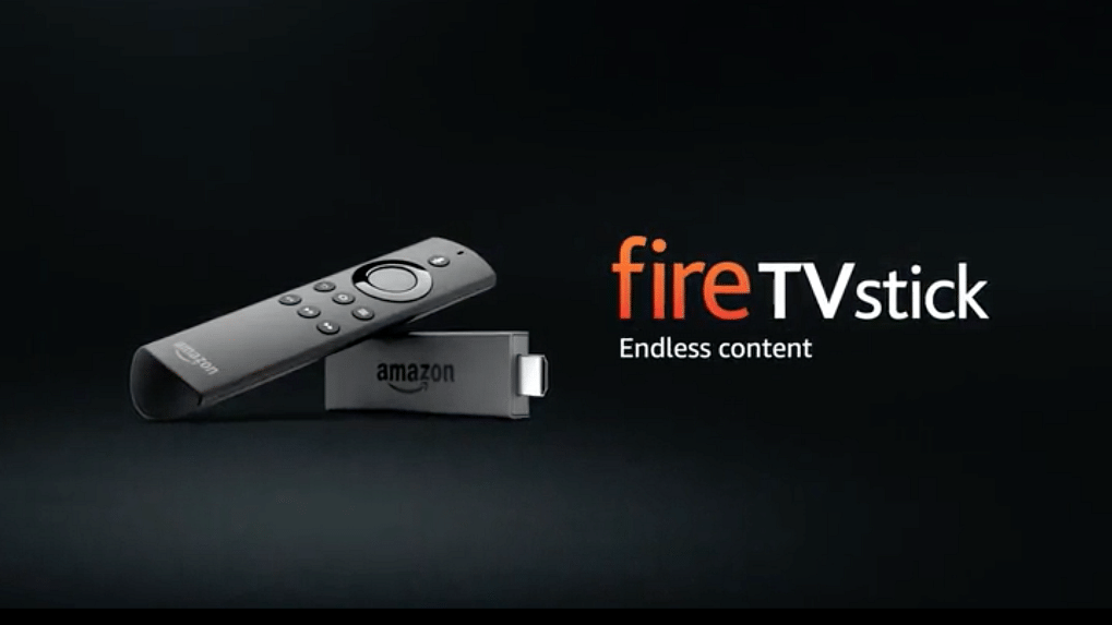 """Amazon Fire Tv stick launched in India Rs 3999 (Photo Courtesy: <a href=""""http://https://www.amazon.com/All-New-Fire-TV-Stick-With-Alexa-Voice-Remote-Streaming-Media-Player/dp/B00ZV9RDKK"""">Amazon</a>)"""