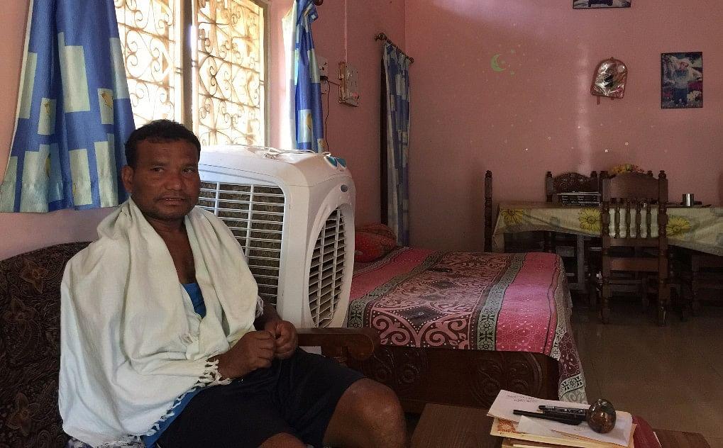 Manish Kunjam, a CPI leader at his house in Sukma. (Photo: Chandan Nandy/<b>The Quint</b>)