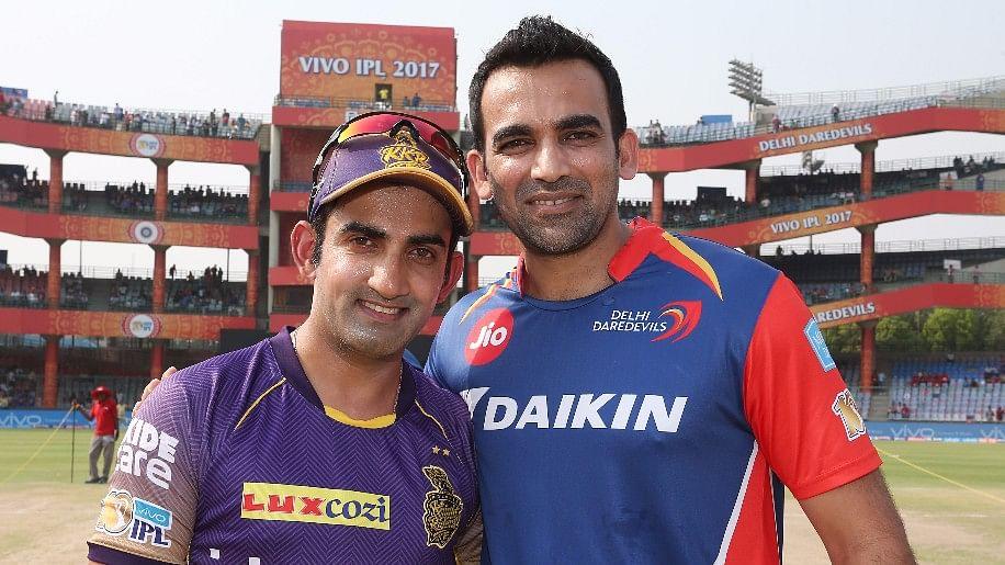 Gautam Gambhir and Zaheer Khan pose for a photograph ahead of an IPL match. (Photo: BCCI)