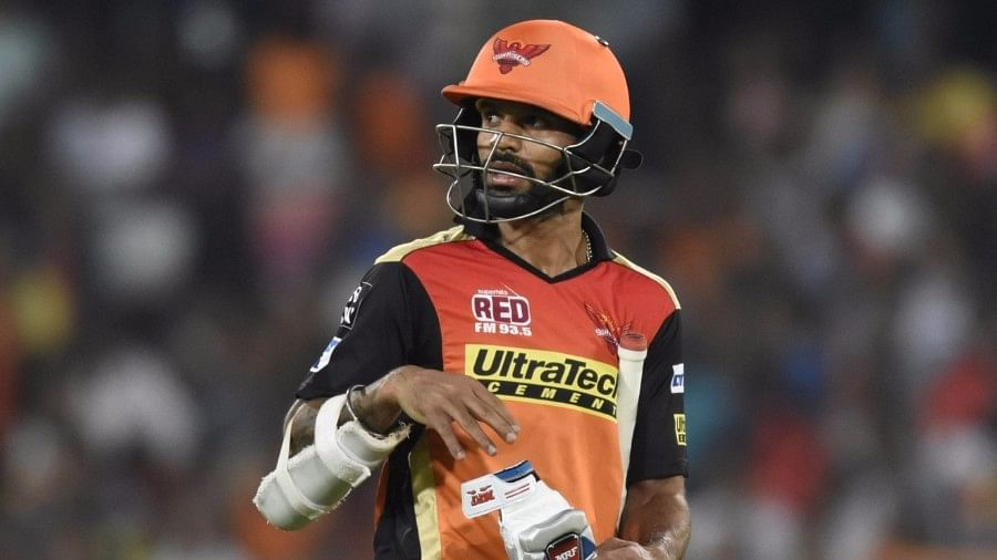 Shikhar Dhawan walks back to the pavilion after getting dismissed. (Photo: IANS)