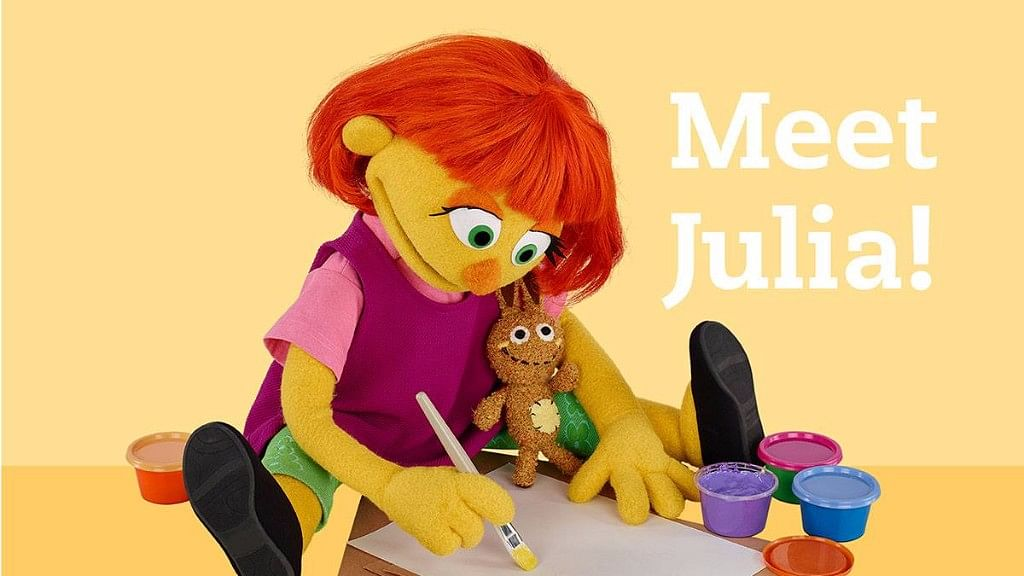 """This month, Julia, the autistic Muppet, made her appearance on the series. The character was announced back in 2015. ( Photo Courtesy: <a href=""""https://www.facebook.com/SesameStreet/photos/a.314049424548.149622.169731464548/10155219582449549/?type=3&amp;theater"""">Facebook</a>)"""