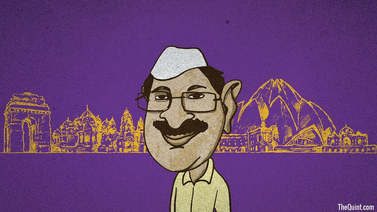 With BJP resorting to Gujarat model of campaigning, the MCD elections will indeed be a referendum on Kejriwal. (Photo: Harsh Sahani/<b>The Quint</b>)