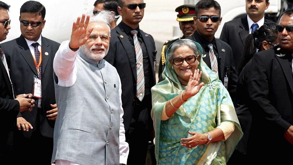 A file photo of PM Narendra Modi with Bangladesh PM Sheikh Hasina.