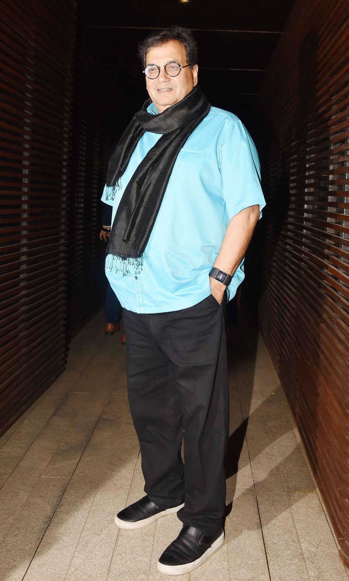 Subhash Ghai arrives at the party. (Photo: Yogen Shah)