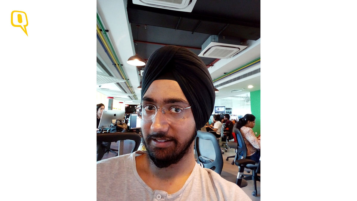 Review: Selfie camera on Coolpad Note 5 Lite (Photo: Jaivardhan Singh Channey/<b>The Quint</b>)