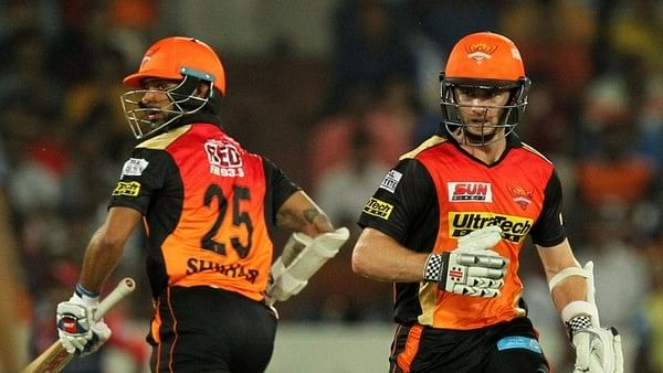 Shikhar Dhawan and Kane Williamson put up a 136-run stand for the second wicket. (Photo: BCCI)