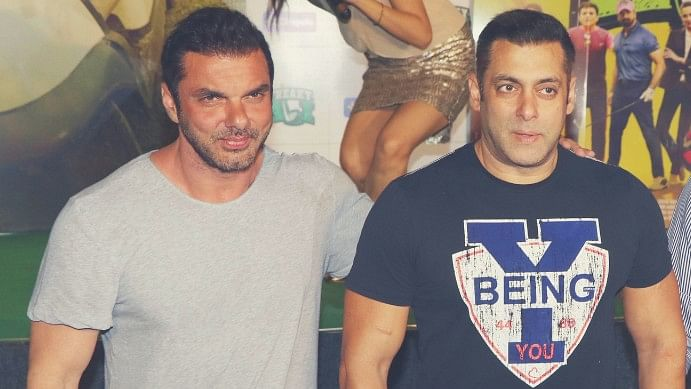 Sohail and Salman Khan. (Photo: Yogen Shah)