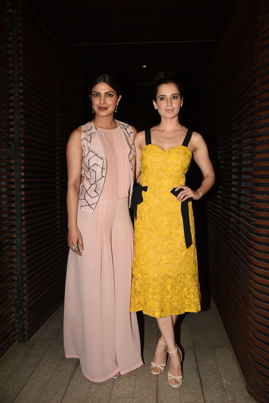 Priyanka and Kangana, standing tall together. (Photo: Yogen Shah)