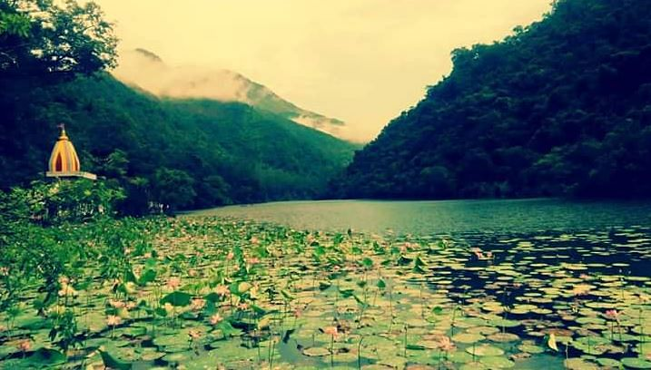 Glimpse of the Renuka Lake in Himachal Pradesh.