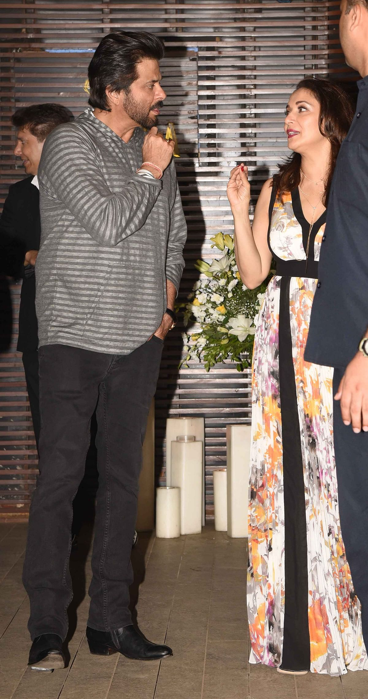 Old friends Madhuri Dixit and Anil Kapoor catch up. (Photo: Yogen Shah)