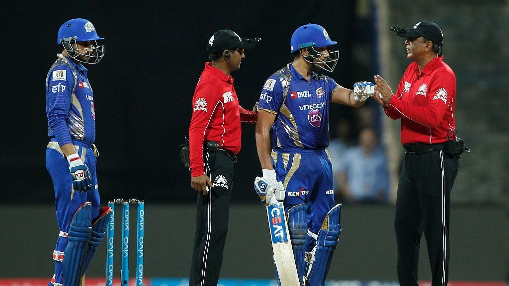 Rohit Sharma has been fined half his match fee for showing dissent at the umpire's decision. (Photo: BCCI)