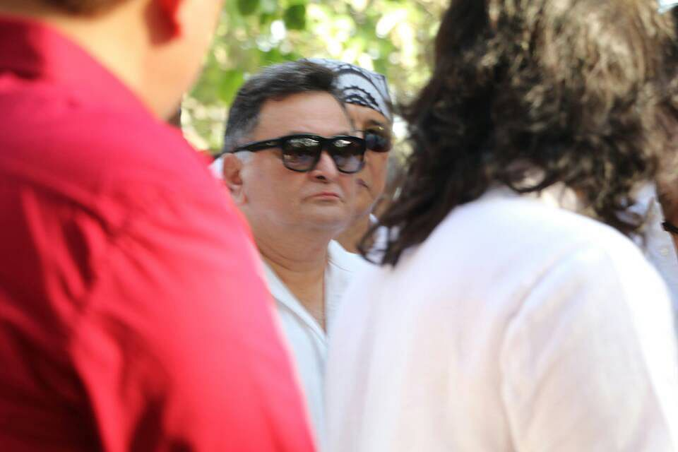 Rishi Kapoor came to offer his condolences. (Photo: Yogen Shah)