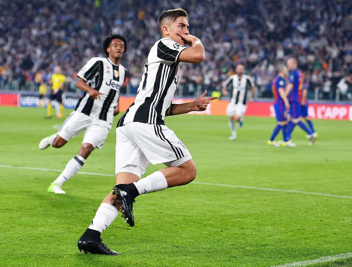 Juventus' Paulo Dybala scored two goals against Barcelona in the Champions League quarterfinal. (Photo: AP)