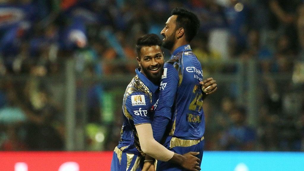 Hardik Pandya and Krunal Pandya of the Mumbai Indians. (Photo: BCCI)