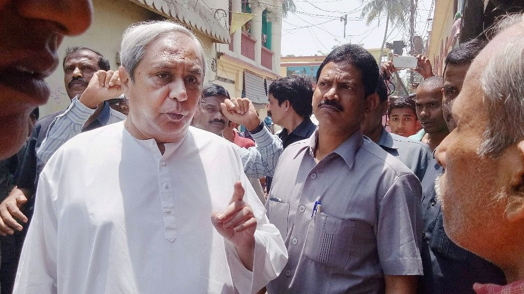 Odisha Chief Minister Naveen Patnaik interacting with communal violence affected people in Bhadrak on Wednesday. (Photo: PTI)