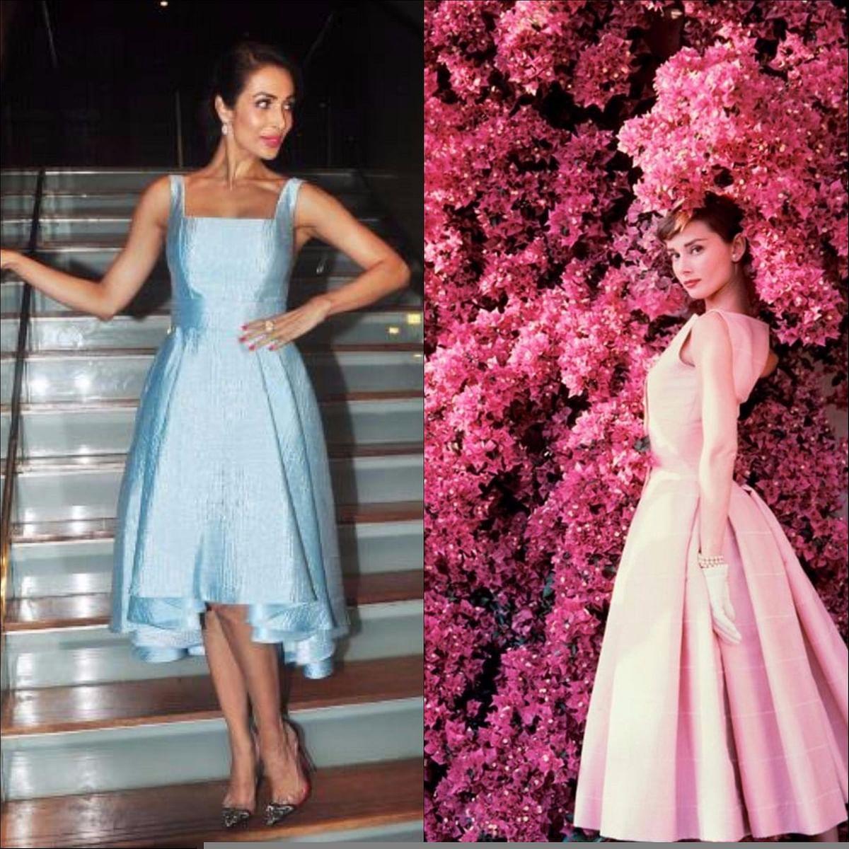 "<div class=""paragraphs""><p>Malaika Arora Khan (L), Audrey Hepburn (R) </p></div>"