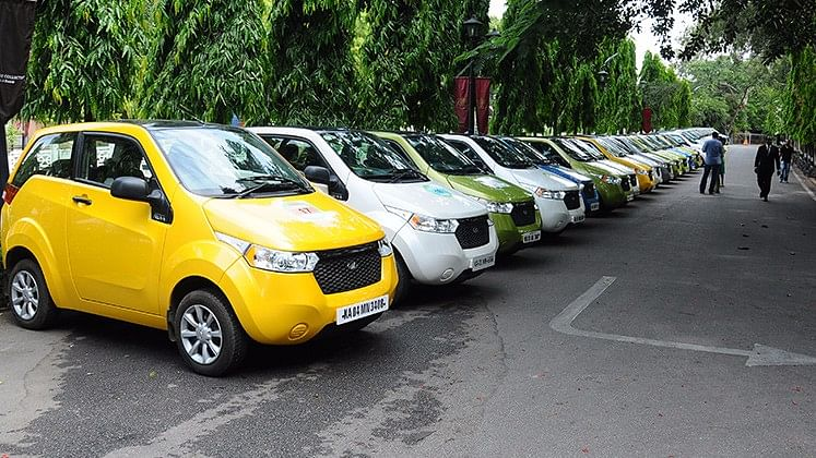 Mahindra E2O is already available in the form of cabs in India.