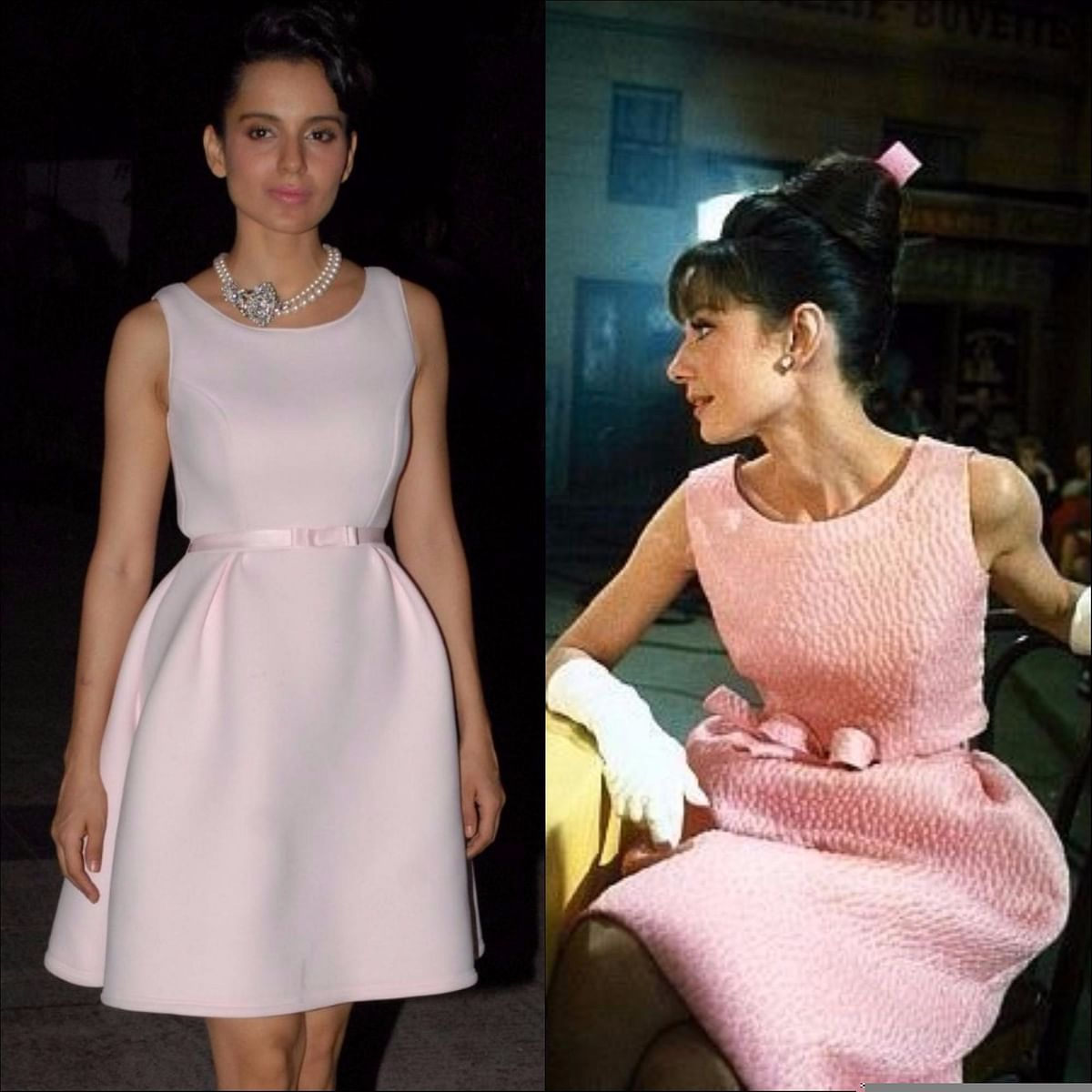 """<div class=""""paragraphs""""><p>From One Diva to Another. Kangana Ranaut (L), Audrey Hepburn (R) </p></div>"""