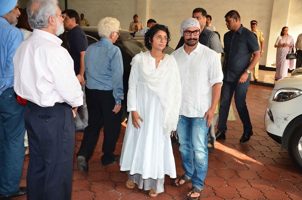 Aamir Khan with Kiran Rao at the meet. (Photo: Yogen Shah)