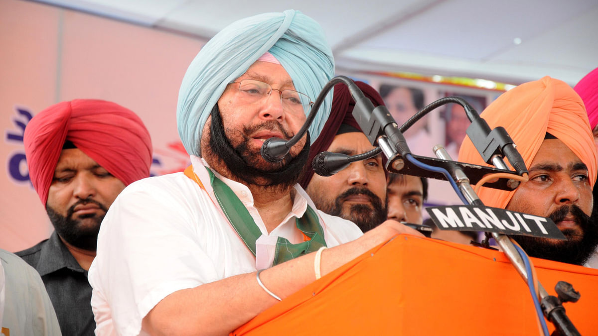 File photo of Punjab Chief Minister Amarinder Singh. (Photo: IANS)