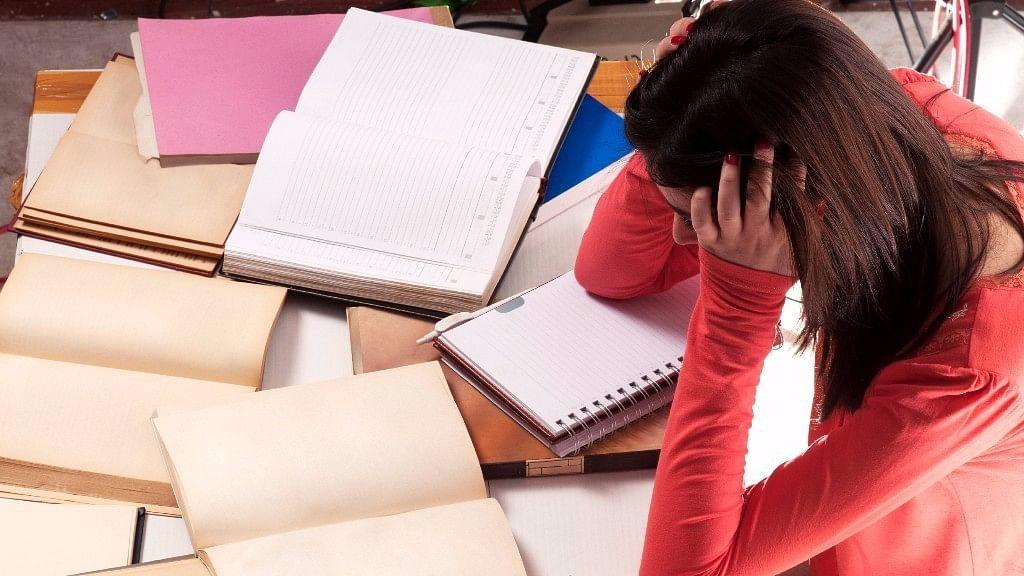Representational image of exam stress.