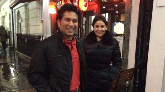 "Sachin Tendulkar with his wife Anjali. (Photo Courtesy: <a href=""https://www.facebook.com/SachinTendulkar/"">Facebook/Sachin Tendulkar</a>)"