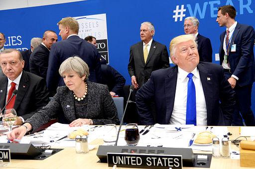 """(Photo Courtesy: <a href=""""http://www.apexchange.com/pages/OneUp.aspx?id=68c3e6cc069a46b387bf916a87bfa723&amp;links=TRUMP,NATO,USABL,WK21Y2017,W21Y2017&amp;media=Photo&amp;slug=&amp;fid=d3253854c6564bdf8417fd7ed89d28f6"""">AP</a>)"""
