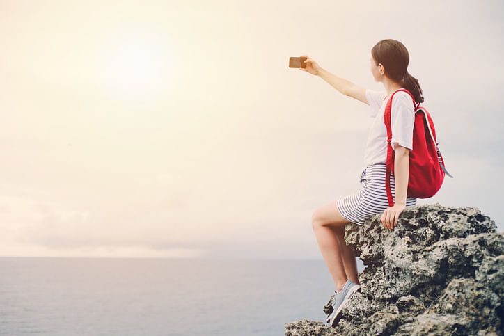 Representational image of a woman taking selfie. (Photo: iStock)