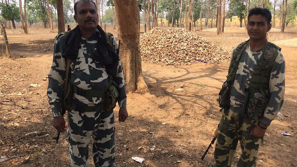 CRPF personnel have now entered Maoist hotbeds which were earlier impenetrable. (Photo: Chandan Nandy/<b>The Quint</b>)