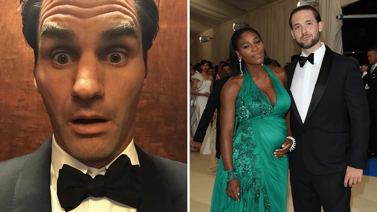 Roger Federer and Serena Williams at the Met Gala. (Photo: AP)