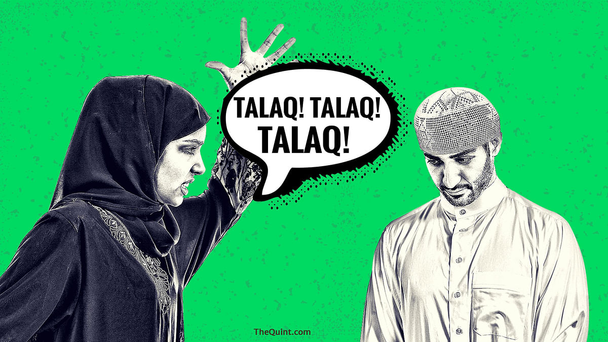 In a first of its  kind, a Muslim woman in Meerut pronounces triple talaq after being harassed for dowry. (Photo: Lijumol Joseph/<b>The Quint</b>)