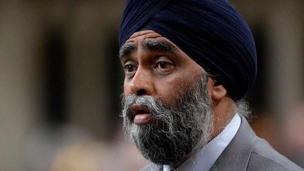 Canada's Defence Minister Harjit Sajjan. (Photo: AP)