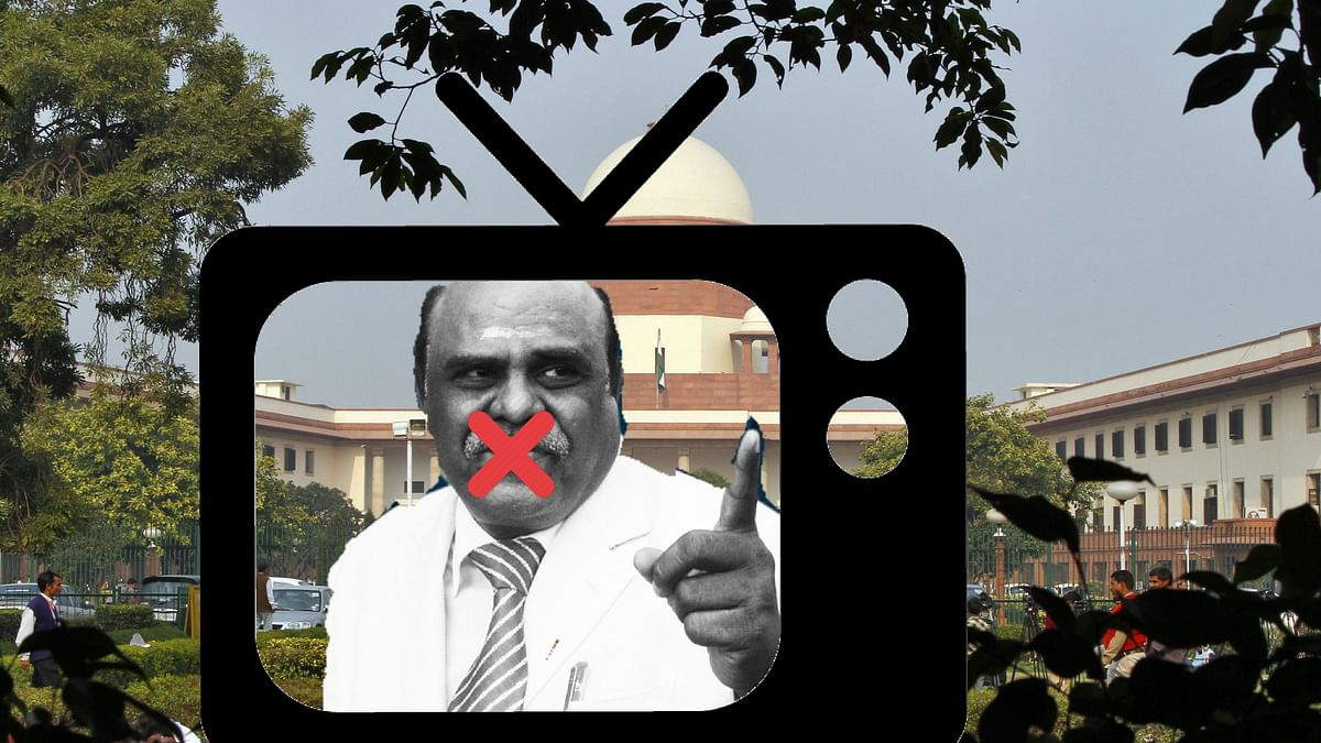 """The SP has """"restrained"""" print and electronic media from publishing statements made by Justice CS Karnan. (Photo: <b>The Quint</b>)"""
