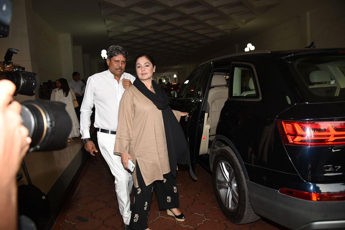 Kapil Dev with Pooja Bhatt at the meet. (Photo: Yogen Shah)