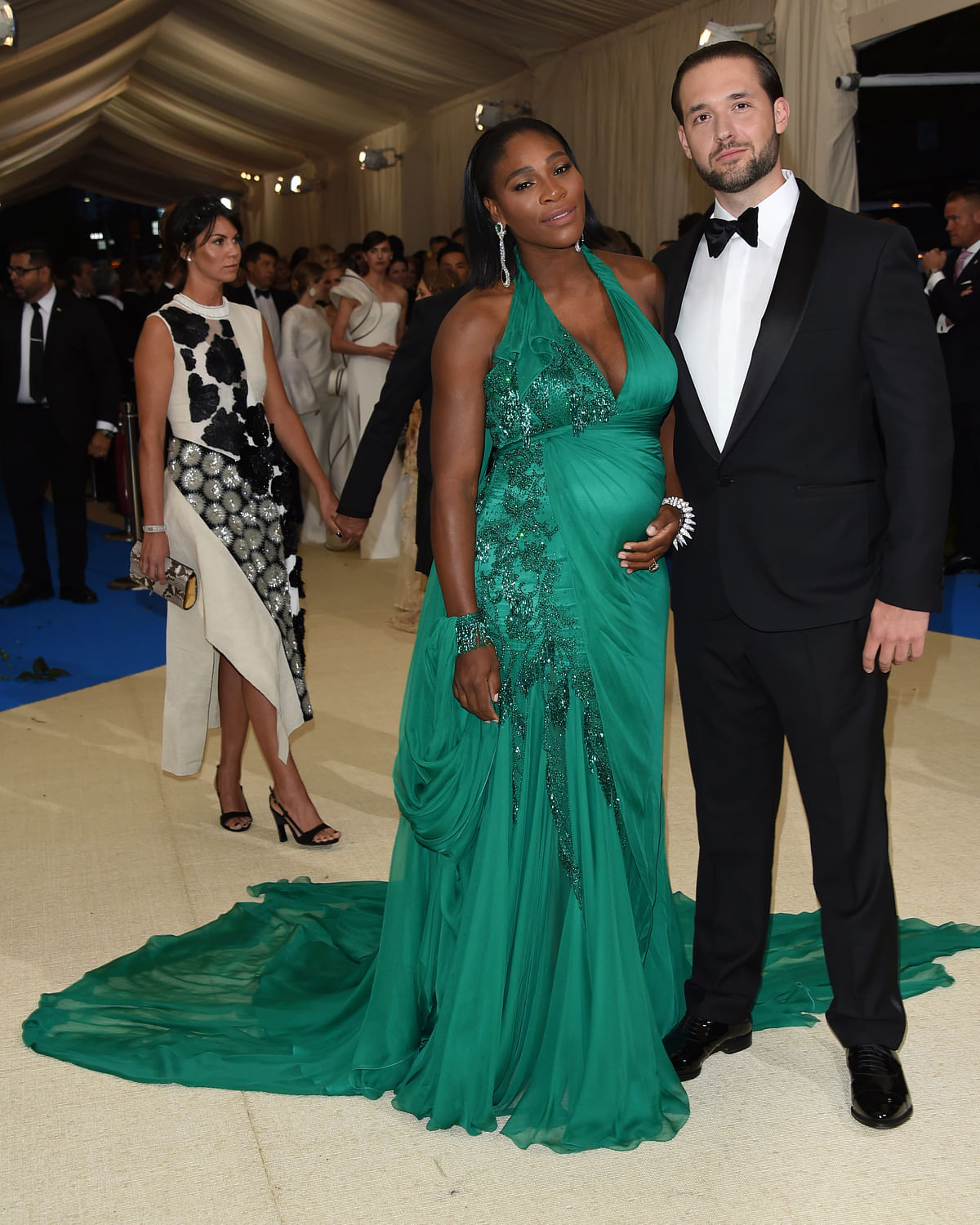 Serena Williams, left, and Alexis Ohanian at The Metropolitan Museum of Art's Costume Institute benefit gala. (Photo: AP)