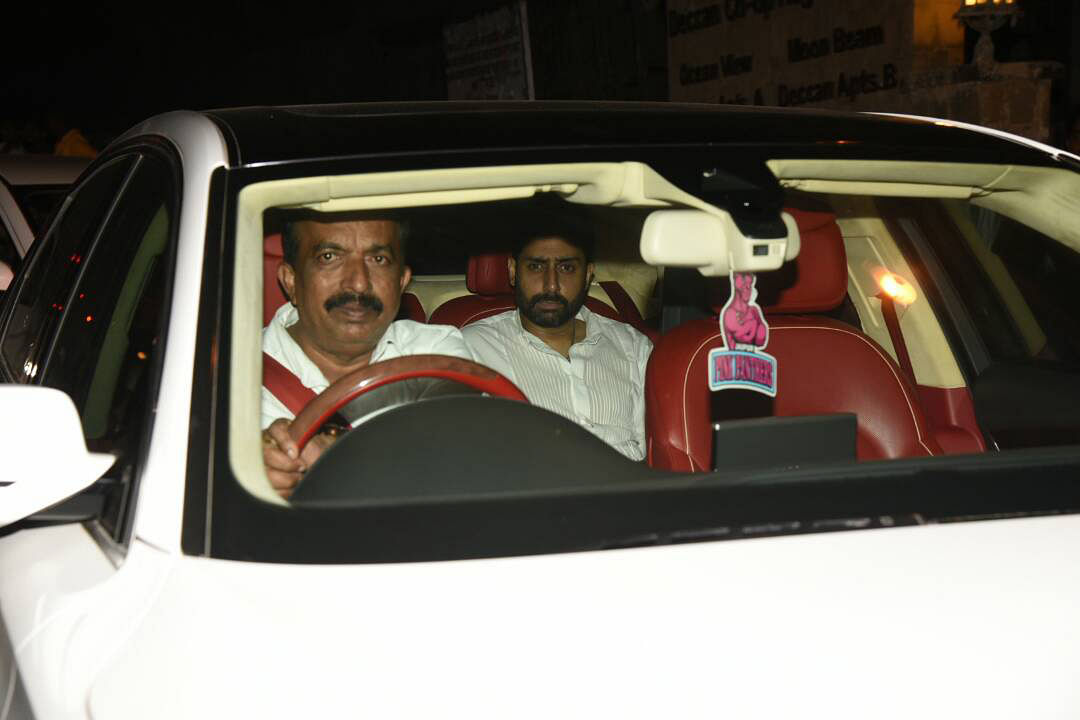 Abhishek Bachchan arrives for the do. (Photo: Yogen Shah)