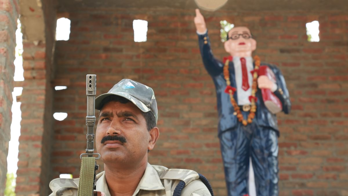 Security in Saharanpur has been stepped up significantly since the clashes on 9 May. (Photo: Abhay Sharma/<b>The Quint</b>)