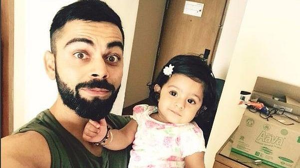 """Virat Kohli with Hinaya (Photo: Virat Kohli/<a href=""""https://www.instagram.com/p/BTk1Zs1gXHK/?taken-by=virat.kohli"""">instagram</a>)"""