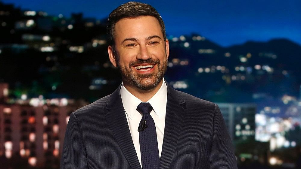 Jimmy Kimmel during a shoot in Los Angeles on 11 April. (Photo: AP)