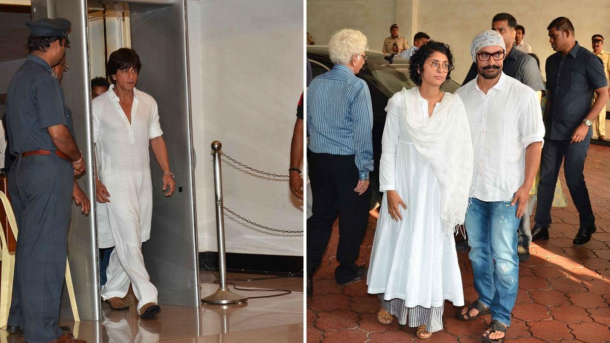 SRK and Aamir Khan were present at the prayer meet. (Photo: Yogen Shah)