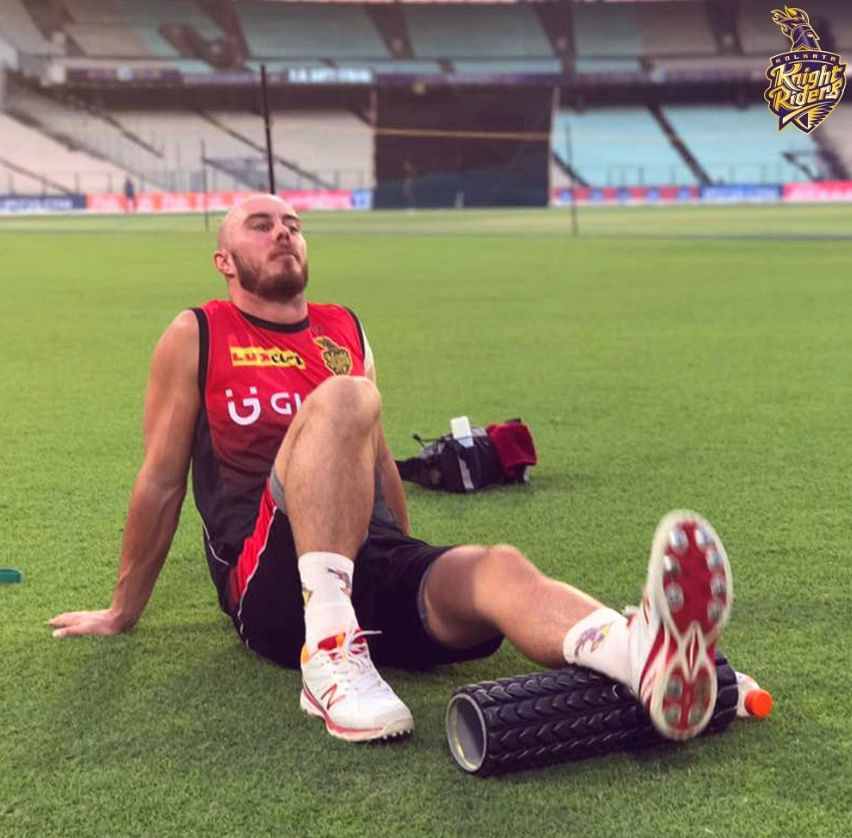 Kolkata Knight Riders official twitter handle posted this picture of Lynn at the practise session on Tuesday.